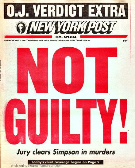 OJ Verdit Extra NY Postheadline 1995