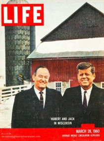 Life Magazine cover Wisconsin Primary 1960 JFK and Humphrey