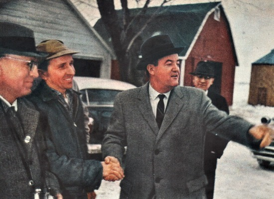 Hubert Humphrey campaigning Wisconsin 1960
