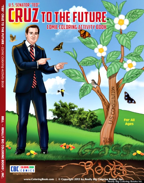 Ted Cruz To the Future Coloring Activity Book 2013