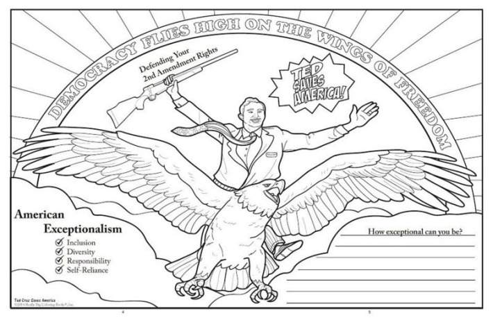 Ted Cruz Saves America Coloring Book Democracy Flies High