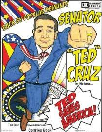 Ted Cruz Saves America coloring Book