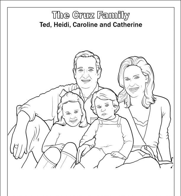 Ted Cruz Saves America Coloring Book The Cruz family 2014