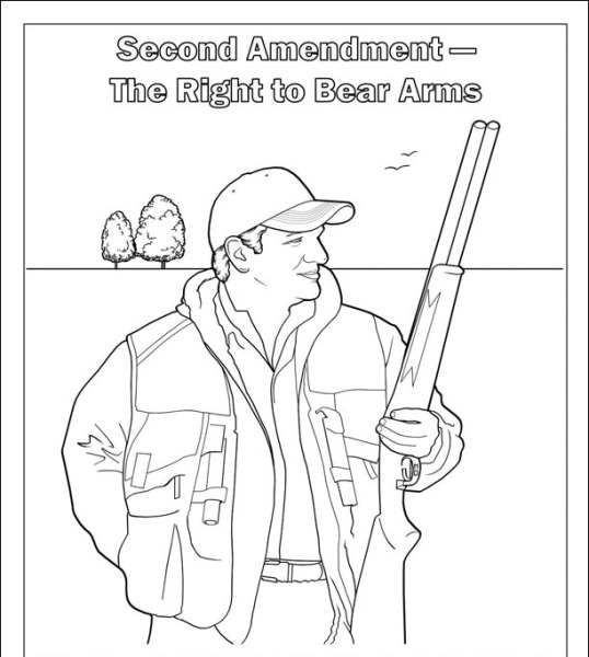 Ted Cruz coloring book page Right to bear arms