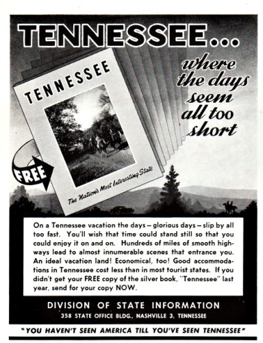 Vintage Tennessee travel ad