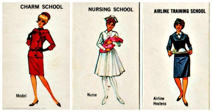 vintage woman cards career