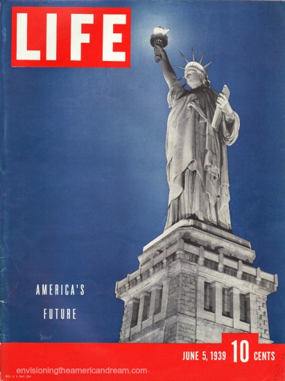Statue of Liberty Magazine Cover 1939