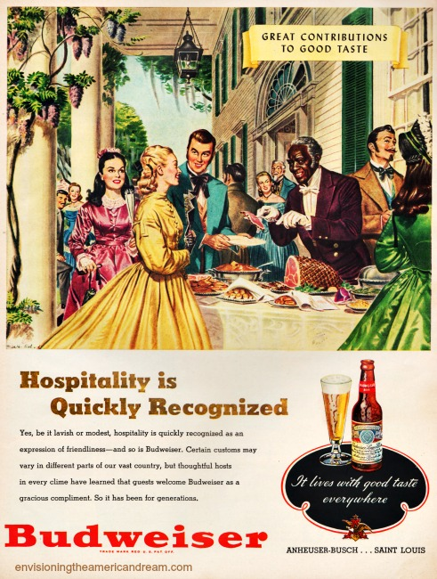 Vintage ad Budweiser Great Contributions to God taste Antebellum south