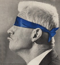 photo of man with blindfold on
