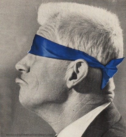 vintage image man blindfolded