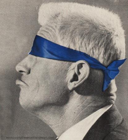 vintage image man blindfolded