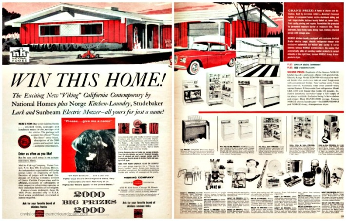 Contest 1950s win Home