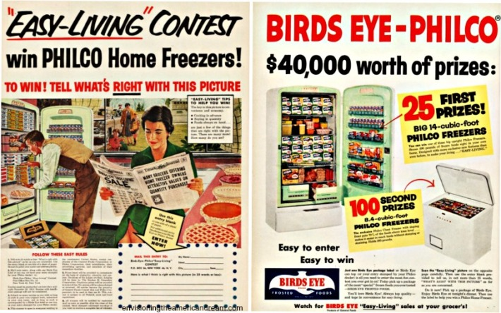 Contest 1954 Birds Eye Easy Living