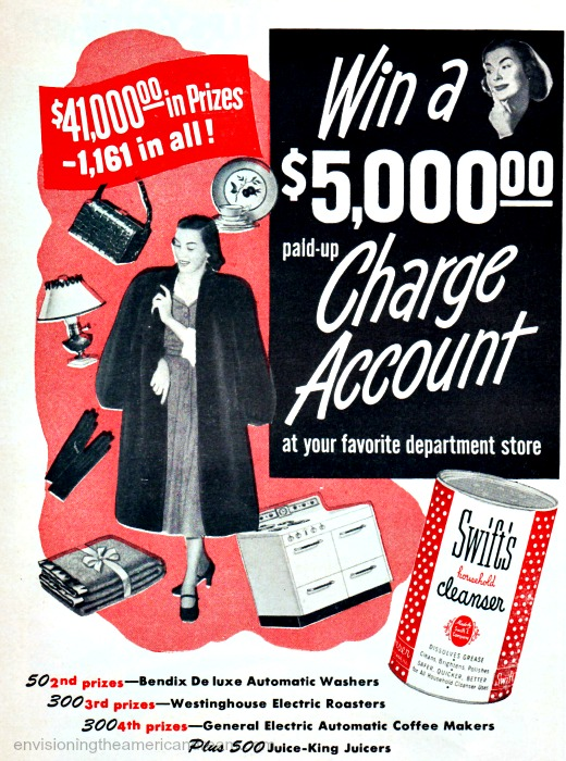 Contest win a charge account 1948