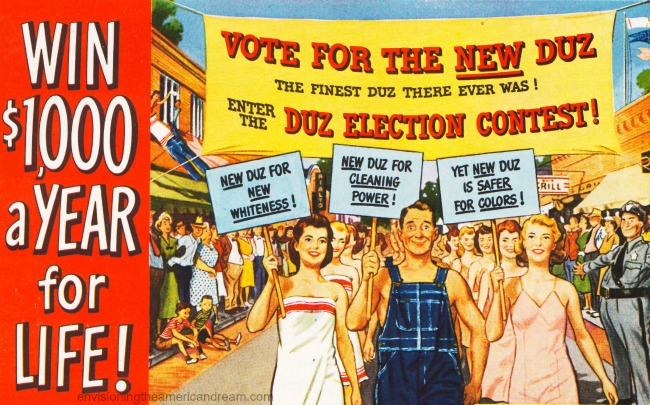 Vintage ad Duz Contest 1948