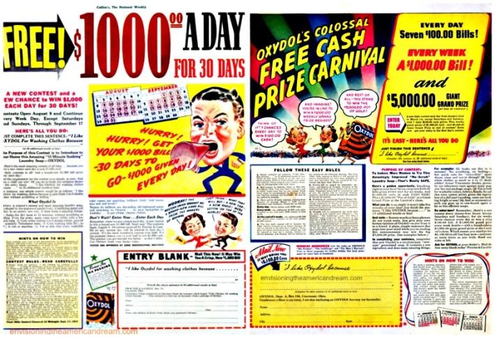 Contests 1930s Oxydol