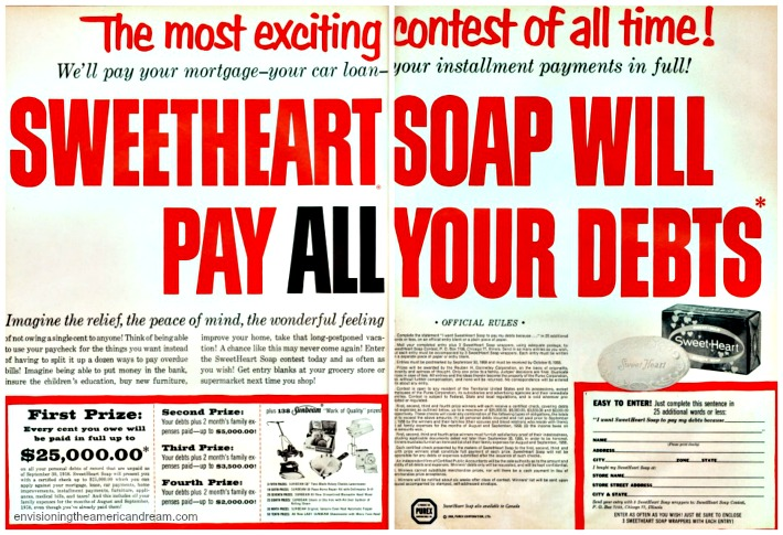 contests sweetheart soap pay debts