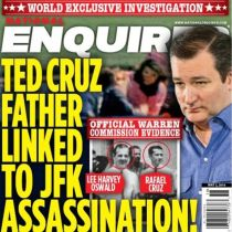 National Enquiere headline Cruz and JFK and Oswald