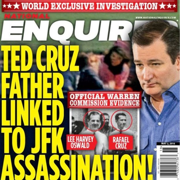 National Enquirer Ted Cruz father and Lee Harvey Oswald