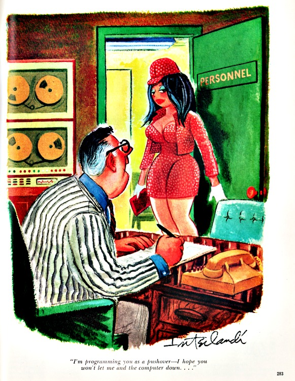 Playboy cartoon computers sexist 1969