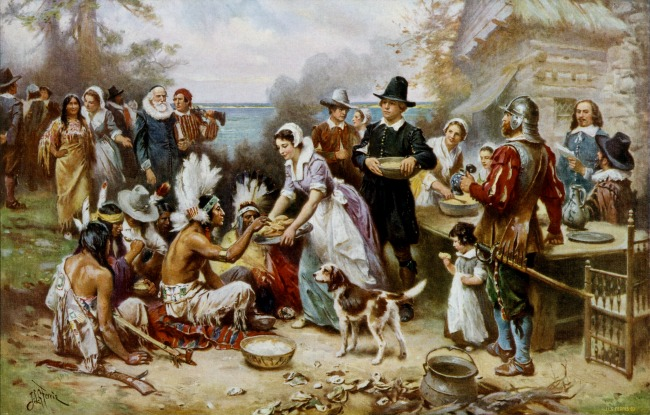 The First Thanksgiving painting by Ferris