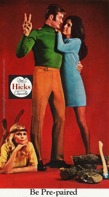1969 fashion ad men and women