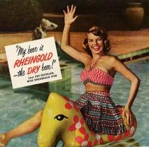 Vintage Beer Ad Miss Rheingold 1948