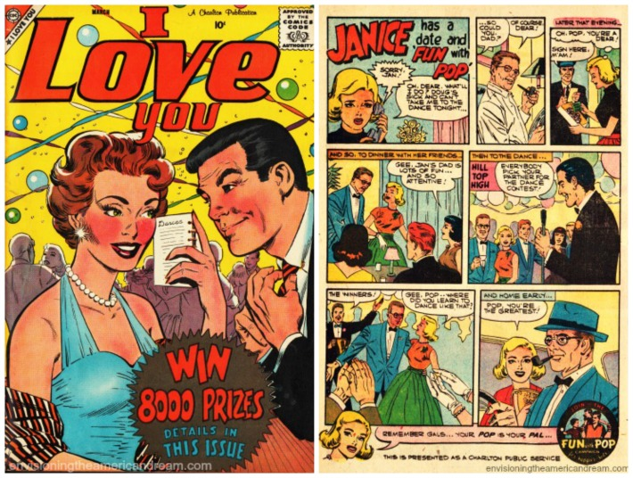 Comic Book I Love You PSA 1950's