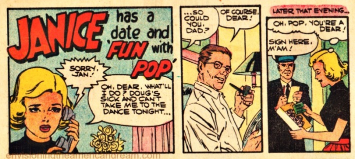 "Vintage Public Service ad ""Fun With Pop"" 1959 from ""I Love You""Comic Charlston Publications 1959"