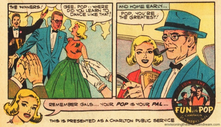 "Vintage Public Service ad ""Fun With Pop"" from ""I Love You""Comic Charlston Publications 1959"
