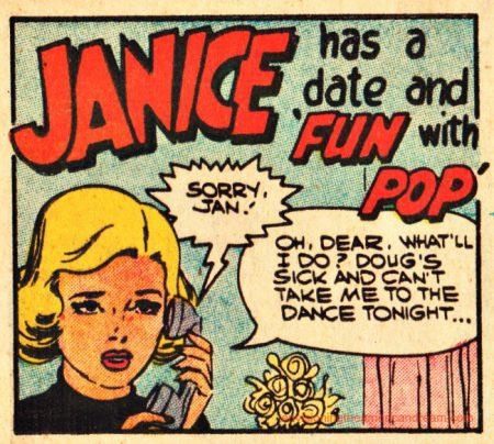 Cartoon comic teen girl on phone