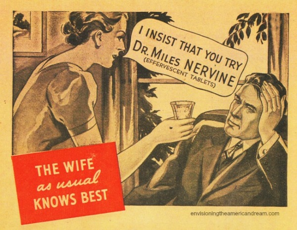Vintage ad Dr Miles Nervine husband and wife