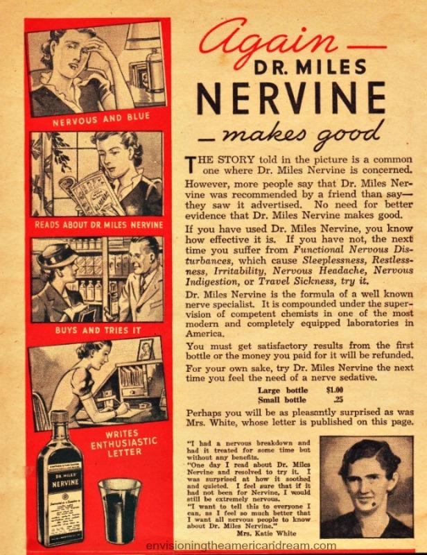 Vintage ad Dr Miles Nervine 1939