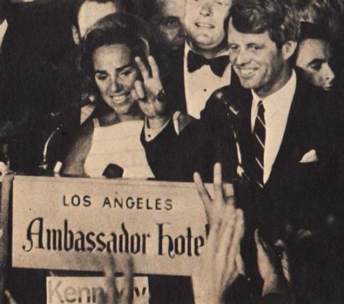 Kennedy Robert Calif Ambassador Hotel 1968