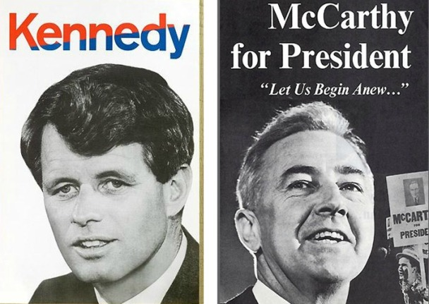 Kennedy Robert McCarthy 1968 Campaign Posters