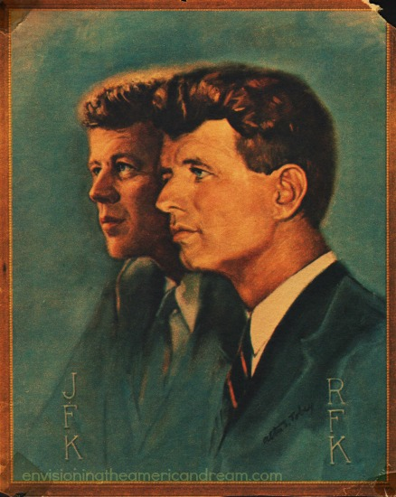 John kennedy and Robert Kennedy painting