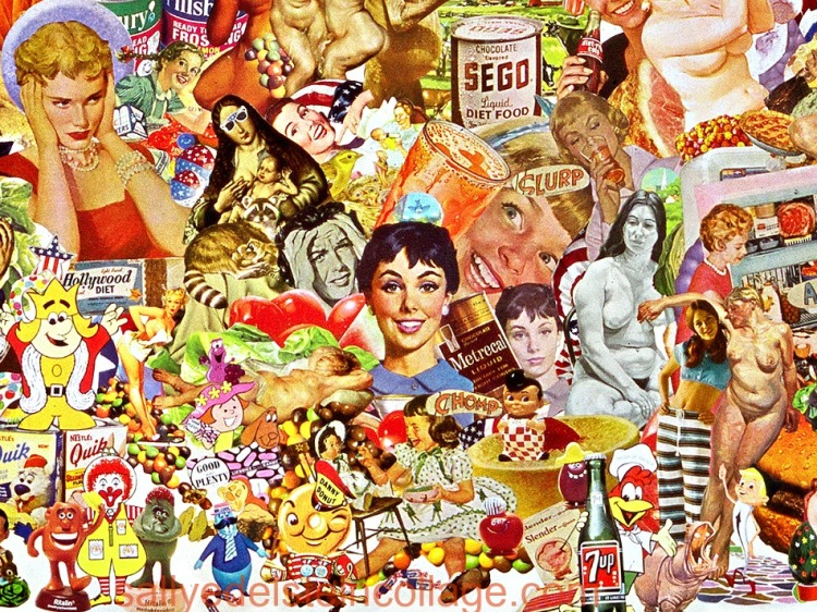 Detail Collage- Constant Cravings by Sally Edelstein
