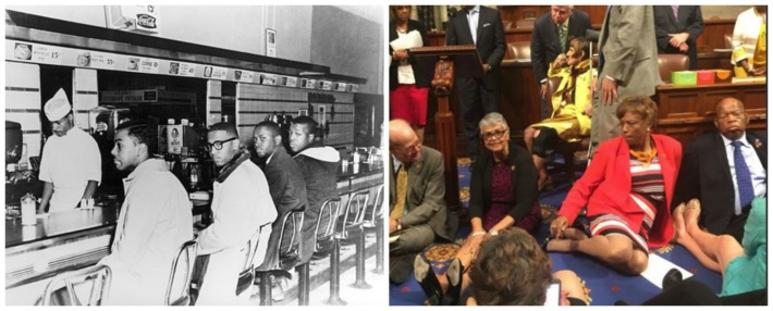 greensboro sit in Woolworth Congress sit in John Lewis