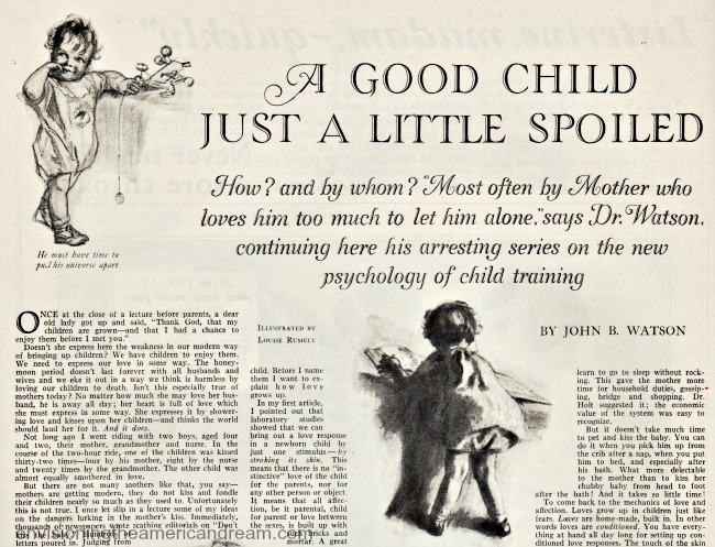 1926 Baby Care Dr watson article