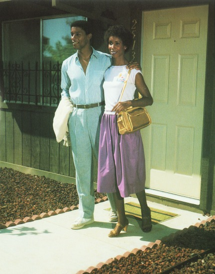 Vintage Photo African American outside their suburban home