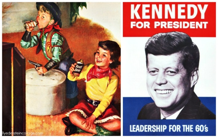 watching the Democratic Convention 1960 on TV Kennedy For President