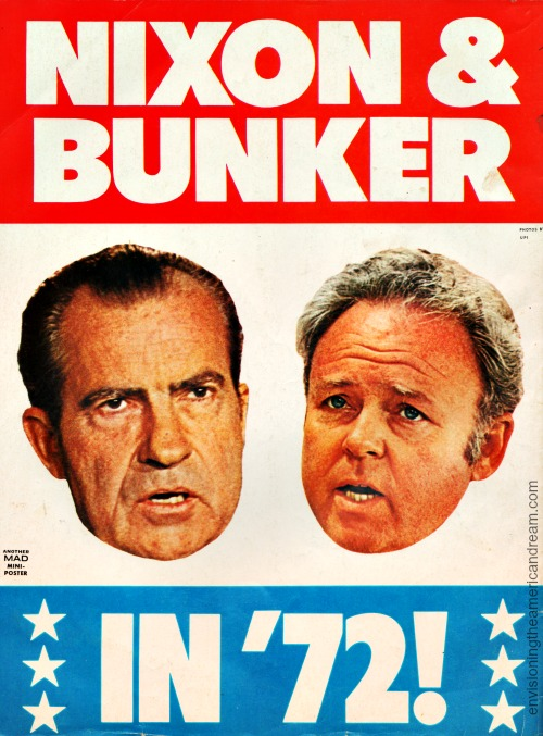 Richard Nixon and Archie Bunker Mad Magazine 1972