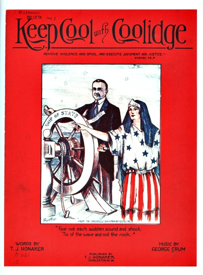 "Vintage sheet Music ""Keep Cool with Coolidge"