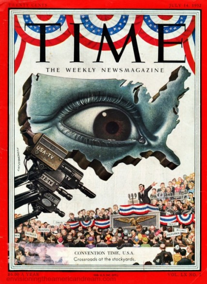 Time Magazine Cover politics and TV 1952
