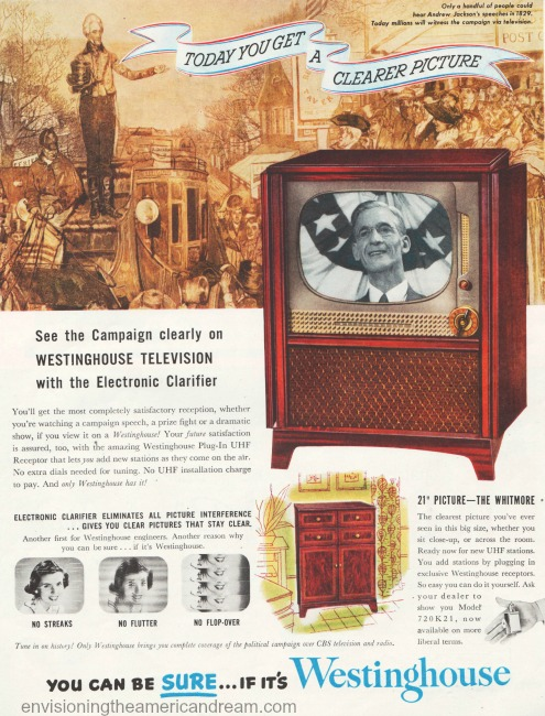 vintage Westinghouse television ad 1950s