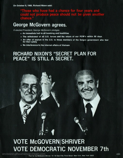 George McGovern for President Brochure 1972