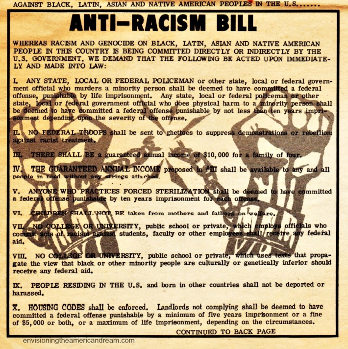 SDS New Left Notes Call to Action Anti Racism Bill 1972
