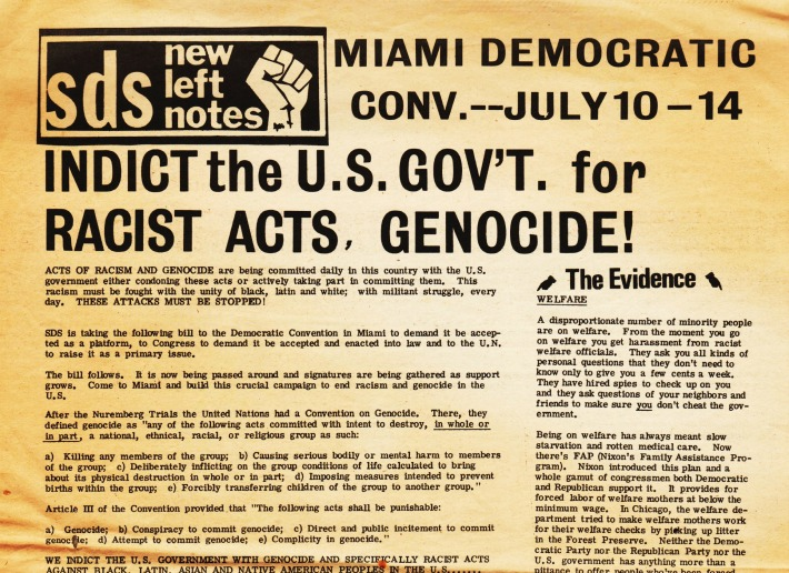 SDS New Left Notes Call to Action at Miami Democratic Convention 1972