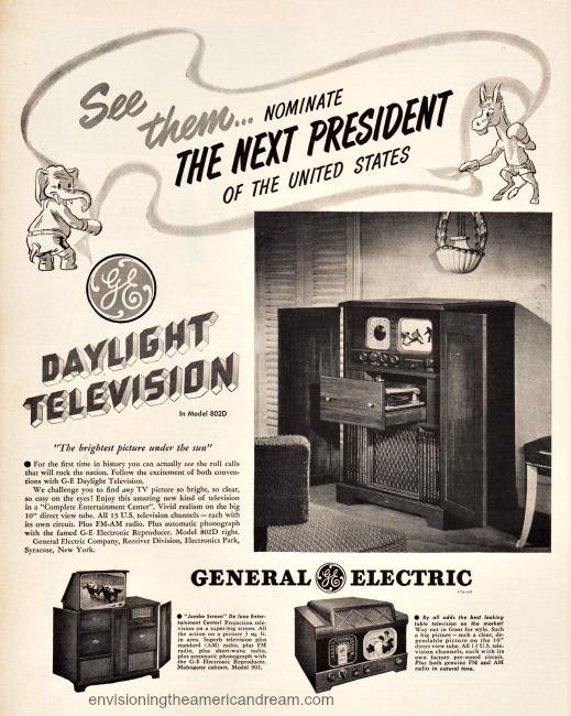 Vintage ad 1948 GE Television