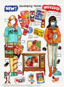 paper doll book illustration 1960s